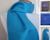 A Beautiful Printed Turquoise Pashmina Scarf, Shawl, Wrap, bridal shawl, bridesmaids shawl, bridal gift
