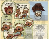 Christmas Brownies (tags, labels, recipes, directions) all graphics by Cheryl Seslar