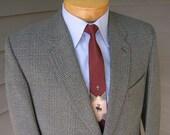 vintage 1960's Men's Custom made sport coat. Speckled Glen Plaid. John Collier  -  Oxford Street, London. Size 38 - 40 Regular