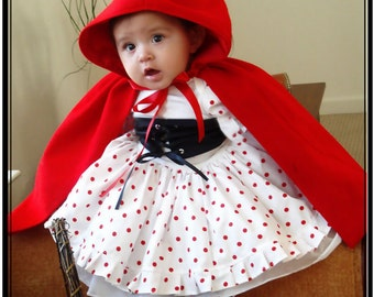 Pageant Baby girl storyteller Little Red Ridding Hood costume rodeo cowgirl fairy baby Casual wear OOC custom 3/6m 12m 18m up to 10 yrs