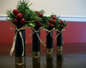Black 16 ga. Shotgun Shell Ornaments - Set of 4