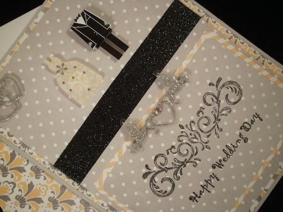 Happy Wedding Day - Blank Wedding Card with Embellished Envelope
