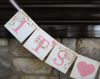 IT'S A GIRL baby shower, new arrival banner