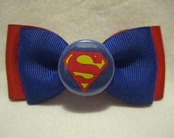 Superman Hair Bow