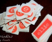 50 Custom Folded Labels