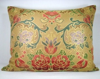 Jacquard Pillow Decorative Lumbar Pillow Woven Jacquard Pillow Accent Pillow Lumbar Pillow Cover 16x20