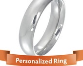 Personalized Jewelry - Personalized Ring - stylish Silver color Stainless Steel ring - Your perfect gift