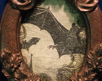 Goth, Vampire, Flying Bat's Ornament, Halloween