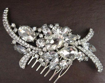 Large Crystal Glamour Hair Comb