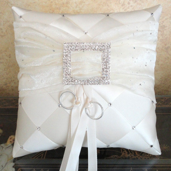 wedding ring bearer pillow ivory or custom made by