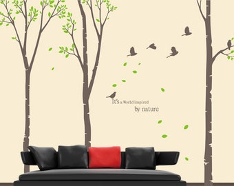 "Wall Decal Tree Wall Decal Nursery Wall Decal Large Trees Wall Sticker 96""H"