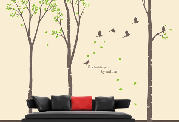 Wall Decal Tree Wall Decal Nursery Wall Decal Large Trees Wall