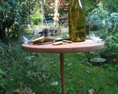 Table for Two urban honey locust mini picnic table with wine glass notches by BANDY