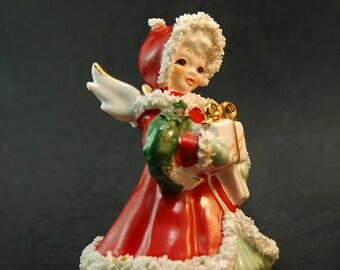 Napco Xmas Angel Christmas Spaghetti  Figurine S116A
