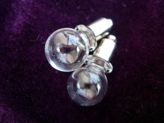 2 Spherical Blown Glass Magic Potion Bottles -  D.I.Y. Trueblood Pendant Harry Potter Potions