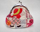 Lovely Red Hat Girl Quilted Purse