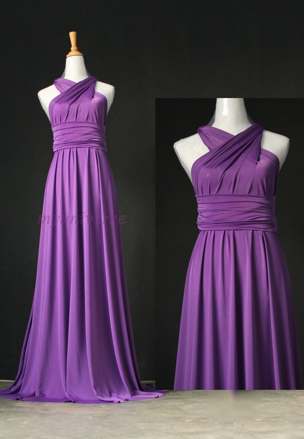 Bridesmaid Dress Infinity Dress Full Length Wrap Convertible