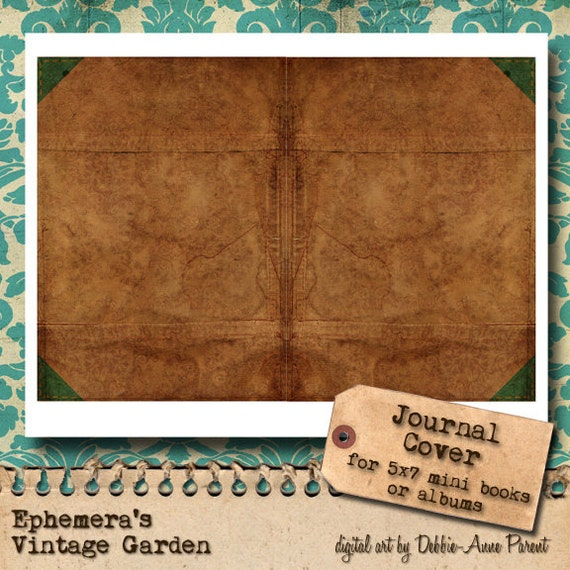 Old Book Cover Journal : Vintage suede book printable journal cover