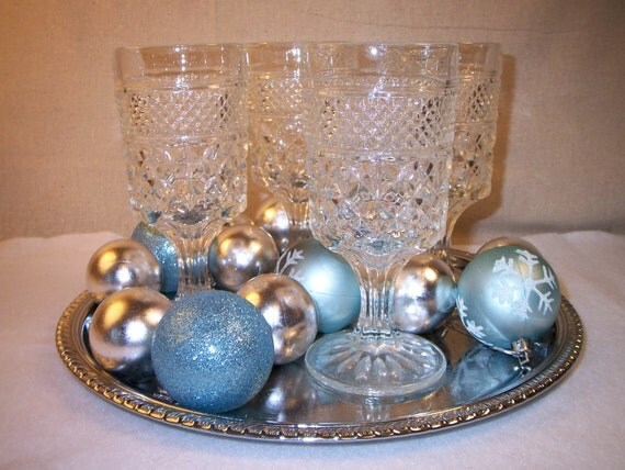 Vintage Goblets Anchor Hocking Wexford 8 ounce set of 4