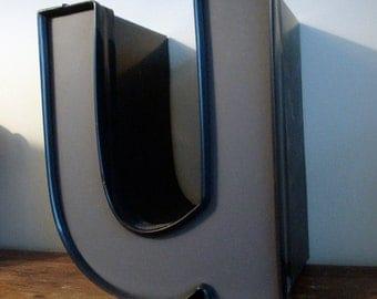 Reclaimed metal letter - u