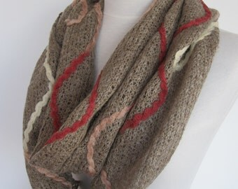 Brown Wool Scarf, Gift, Shawl