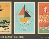 Leeward Maui - Series - 12 x 18 Retro Hawaii Prints