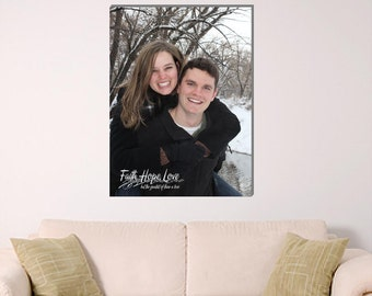 "Canvas Photo 18""x24"", Faith Hope Love"