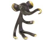 Walter Bosse Elephant Ring Holder - Vintage Mid Century Original Austrian 1960s Brass Elephant Pipe Holder