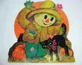 1960s Scarecrow Autumn Halloween Decoration, 100a