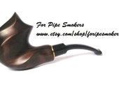 Hand Carved Pear-Root Wood Tobacco Smoking Pipe / Pipes