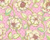 FreeSpirit Heather Bailey Freshcut Cabbage Roses in PinkyPurple 1 yard