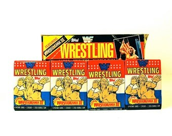 4 WWF WrestleMania Card Packs by Topps 1987
