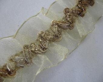 Vintage Ribbon Ivory Chiffon with elastic