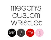 Custom Wristlet for Megan