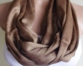 loop infinity circle pashmina scarf brown chocolate christmas gift for her