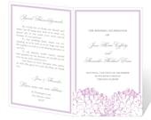 Wedding Program Template Printable - INSTANT DOWNLOAD - Hydrangea