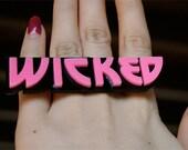 Custom Heavy Metal Font 2 Nameplate Ring (laser cut)