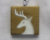 Reindeer Ornament 2x2 miniature painting