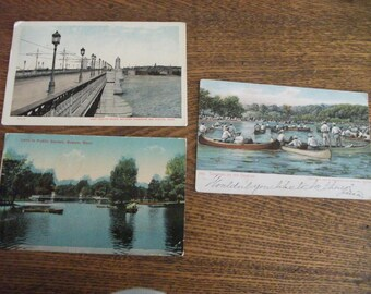 Three early 1900's Boston Postcards
