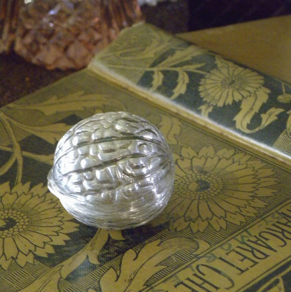 925 Silver Walnut-shaped Pill Box or Treasure Box