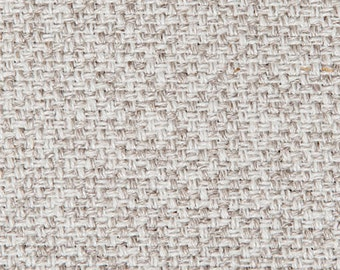 Gorgeous Nuetral Upholstery Slip Cover Fabric- Natural Linen Cotton Blend -Heavy Weight  - Color- Natural/Oatmeal- Soft - 1 yard