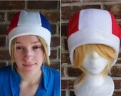 France or Canada Flag Style Hat - Adult-Teen - A winter, nerdy, geekery gift!