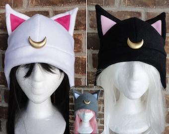 Luna, Artimus, Diana, Luna P - Sailor Moon Hat - Fleece Hat Adult, Teen, Kid - A winter, nerdy, geekery gift!