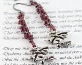 Witch Earrings - Halloween Jewelry - Purple Dangle Earrings - Seed Bead Jewelry - Beaded Earrings - Handmade Jewelry