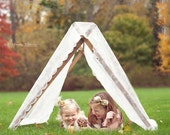 TENT FRAME  with Lace Overlay - Photography Prop