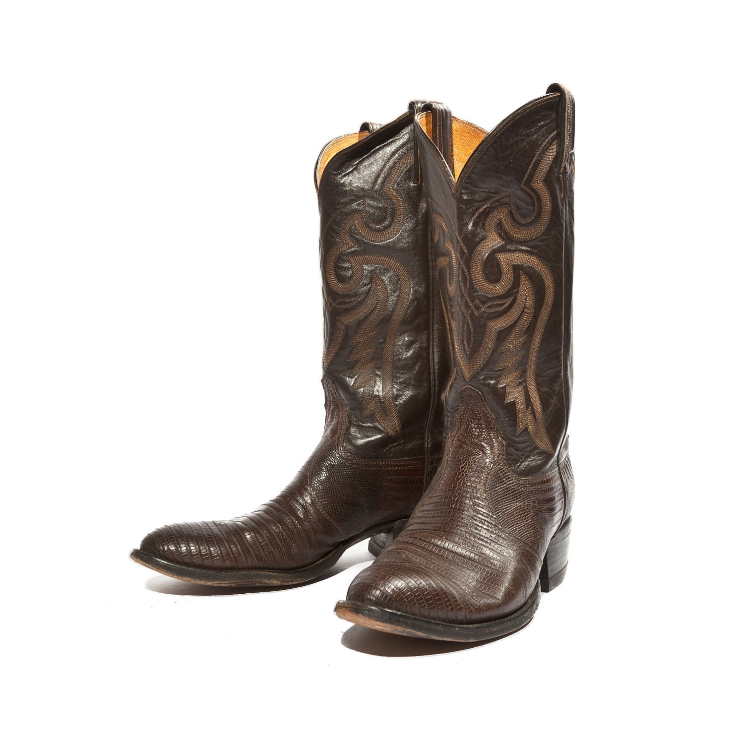 9 s chocolate brown cowboy boots by tony lama in by