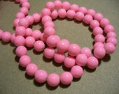Glass Beads Pink  Round 10MM