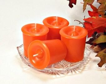 4 pack votive candles Autumn Afternoon scent orange