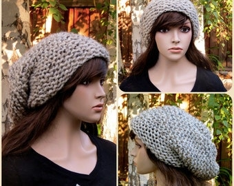 Knitted Super Slouchy Beanie Chunky Oversized Hat (Additional colors available)
