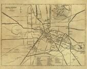 Vintage Map - Houston, Texas 1935